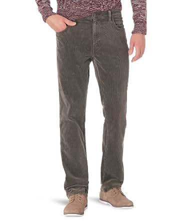 Wrangler - texas stretch - jean - droit - de couleur - homme - marron (Dark Brown) - FR : W33/L34 (Taille fabricant : W33/L34)