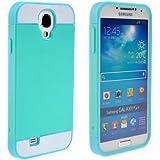 Pixnor Multi-Color Dual-Layer-schwer wieder Case Cover Schutzhülle für Samsung Galaxy S4 / i9500 (Grün + Blau)