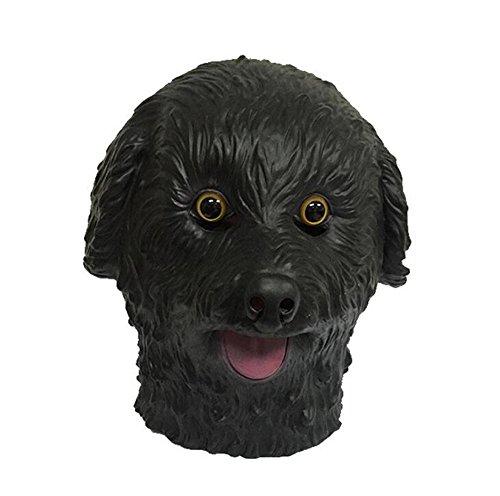 Skue Halloween Novelty Deluxe Latex Teddy Dog Head Mask (Giraffe Deluxe Latex Mask)
