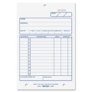 Rediform Sales Order Book, Carbonless, 2 Part, 4 1/4 x 6.375 Inches, 50 Forms (5L527)