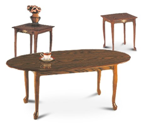 3 Piece Oak Coffee Table & End Table Set (*_*) Discount