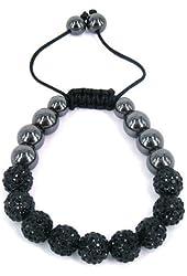 Shamballa Inspired 10mm Crystal Shining Beads Kids Children Bracelets Black Beads