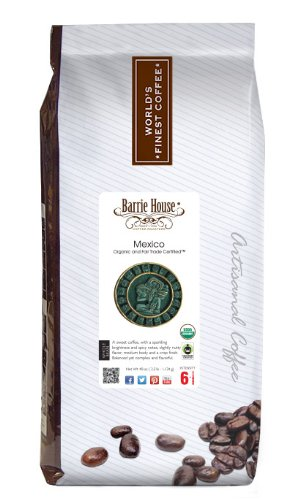 Barrie House Coffee Fair Trade Organic Mexican Select Whole Bean 2.5 lb. Bag