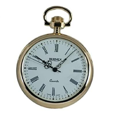 Bernex Pocket Watch GB21101 Gold Plated Open Face