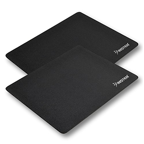 Insten-2-Piece-Soft-Silicone-Standard-Mouse-Pad-for-Optical-Trackball-Mouse-Mice-Black