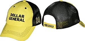 Matt Kenseth 2014 NASCAR Dollar General #20 Adjustable Mesh Trucker Hat-Yellow Black by Checkered Flag