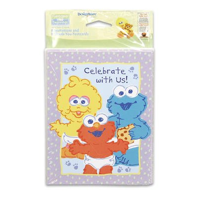 Sesame Street 16ct Invitations & Thank You Cards