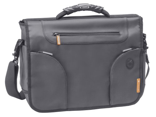 "Microsoft Edge Messenger Bag For 17.3"" Laptops (Orange Trim)"