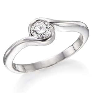 1/4 ctw. Round Diamond Solitaire Engagement Ring in 18k White Gold