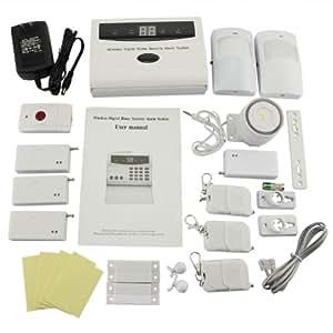 Wireless Security System Motion Sensor Phone Auto Dialer Home Burglar Alarm Kit