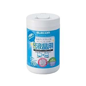 ELECOM ウェットティッシュ 液晶用 110枚入 大型 メッシュ WC-DP110LN3