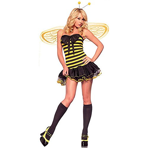 Adult Sexy Bumble Bee Halloween Costume (Large)