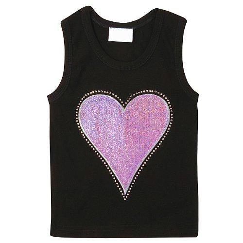Lollipop Moon Pink Sequins Heart Tank Top front-767357