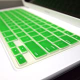 """TopCase® GREEN Keyboard Silicone Cover Skin for Macbook 13"""" Unibody / Macbook Pro 13"""" 15"""" 17"""" with or without Retina Display TOPCASE® Logo Mouse Pad"""