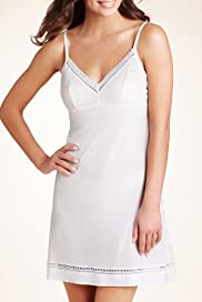 Tencel® V-Neck Lace Slip [T32-6107-S]