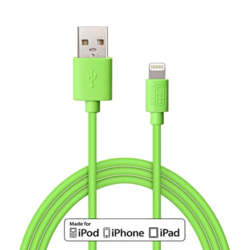 Apple Certified MFI EZOPower Lightning Cable / 6 Feet 8-Pin Lightning to USB Sync & Charge Data Cable - Green