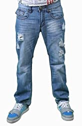 Do Denim Brown Cross Embroidered Washed JeansJeans Size: 36 x 33