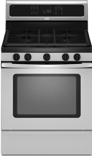 Whirlpool : GFG461LVQ 30 Freestanding Gas Range with 5 Sealed Burners White  ->  30″ 5 Burner Self Cleaning Convection Gas Range –