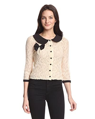 A'reve Women's Lace Collared Top