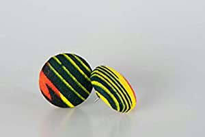 "Fabric button earrings (7/8""), African fabric button earrings, Ankara fabric button earrings, Fabric Earrings, Button earrings, Gifts (Bumi)"
