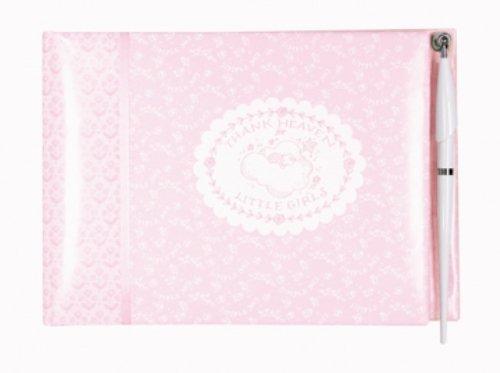 CR Gibson Baby Shower Keepsake and Guest Book, Heaven Sent Girl,