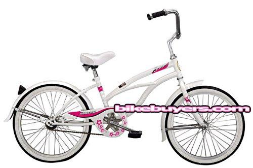 Micargi Jetta Girl's White Cruiser Bike Bicycle, 20