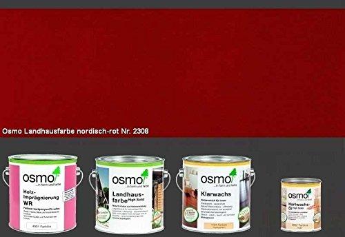 osmo gartenhaus farbe komplettpaket landhausfarbe nordisch rot inhalt ml osmo. Black Bedroom Furniture Sets. Home Design Ideas