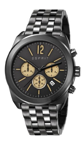 Esprit  ES107571005 - Reloj de cuarzo para hombre, con correa de acero inoxidable, color negro