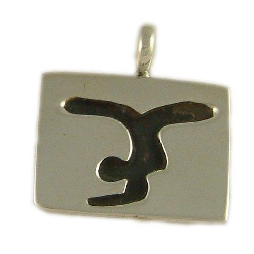 Yoga Tag - Scorpion Pose Pendant