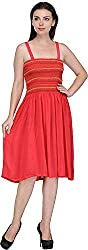 JH Mart Women's Cocktail Dress (JHDRS1016_Crl_S, Coral, S)