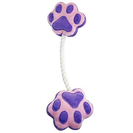 ペットプロ 足型ひっぱりロープ 紫