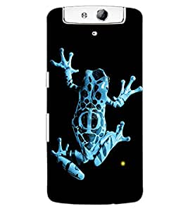 ColourCraft Rare Breed Frog Design Back Case Cover for OPPO N1