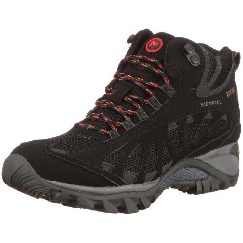 Merrell Women's SIREN VENT MID GTX XCR/BLACK J544418 Boots Black EU 42