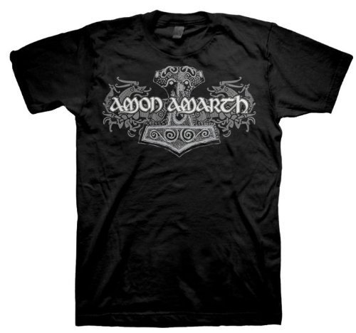 Amon Amarth - Uomo Viking Horses T-Shirt In Nero, Large, Nero