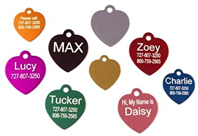 Daddy's Girl Polka Dot Bone Shaped Custom Pet Tag for Dogs or Cats I.d. Tag - 1.25 Inches