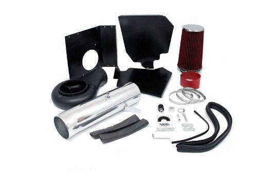 94-01 Dodge Ram 1500 5.2L / 5.9L / 94-02 Ram 2500 V8 5.9L Heat Shield Intake Red (Included Air Filter) #Hi-Dg-2R