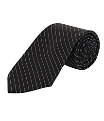 Greyon Black Stripes Formal Regular Tie (GNA022)