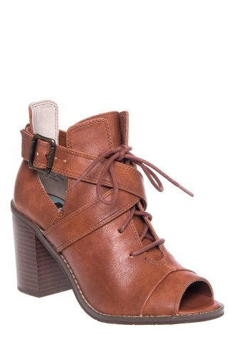 BC Footwear What You See High Heel Open Toe Bootie