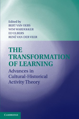 The Transformation of Learning: Advances in Cultural-Historical Activity Theory