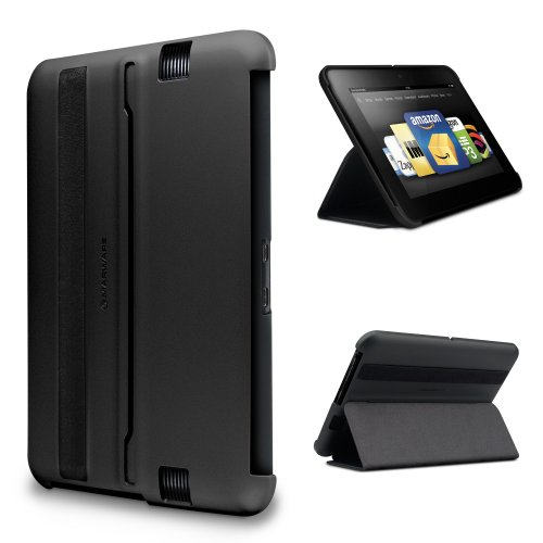 Marware MicroShell Folio Lightweight Standing Case for Kindle Fire HD 7&quot;, Black (only fits Kindle Fire HD 7&quot;)