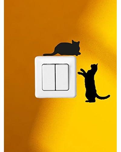Ambience Live Vinilo Decorativo Tow Cute Cats