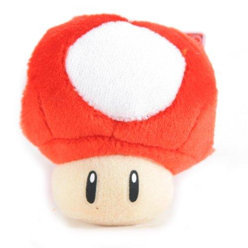 Banpresto-Peluche Super Mario, (2 5,08 cm a forma di fungo, colore: rosso (Japanese Import)