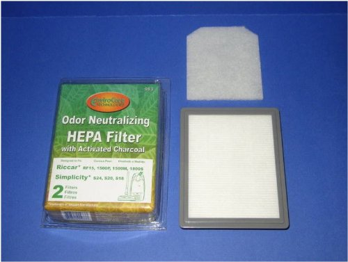 Odor Neutralizing HEPA Filter with Activated Charcoal (Riccar Filters compare prices)