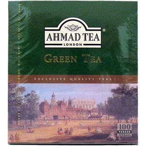 Ahamd Tea of London : Green Tea 100 Tagged Teabags (Green Tea British compare prices)
