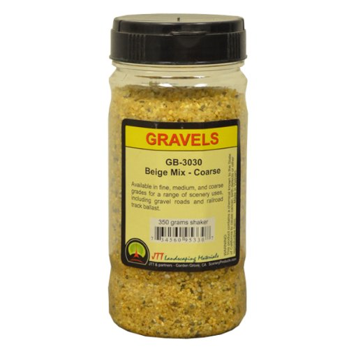 JTT Scenery Products Ballast and Gravel, Beige Mix, Coarse