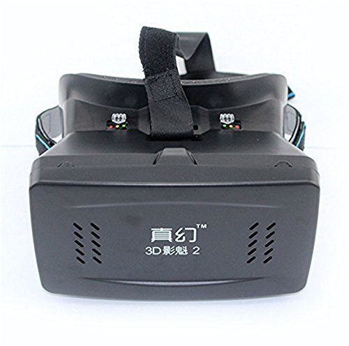 Little Cherry 2016 New Version Vone 3D VR Virtual Reality Headset 3D VR Glasses with NFC for 4~6 inch Smartphones for 3D Movies/Games ( Black )