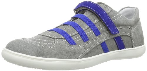 Richter Kinderschuhe Unisex - Child Fany Slipper Gray Grau (rock/cobalt 6101) Size: 29