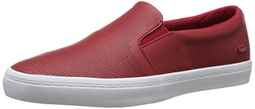 Lacoste Women's Gazon 116 1 Fashion Sneaker, Dark Red, 8.5 M US