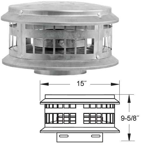 Aluminum Cap - 8 Inch