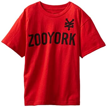 Zoo York Boys 8-20 Ivy Cracker Tee, Red, Medium